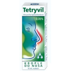 TETRYVIL 0.05 % KROPLE DO NOSA 10 ML