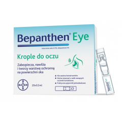 Bepanthen eye krople do oczu 20szt 0,5ml