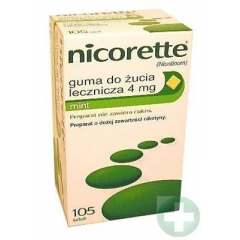 NICORETTE MINT 4 MG GUMA DO ŻUCIA 105 GUM