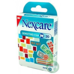 NEXCARE SENSITIVE DESIGN POP ART PLASTRY STERYLNE 20 SZT.