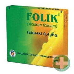 FOLIK 0,4 MG, 60 TABLETEK