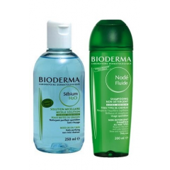 BIODERMA SEBIUM H2O 500 ML+BIODERMA NODE FLUID 200 GRATIS !!!