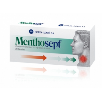 MENTHOSEPT 1,5 MG, 20 TABLETEK DO SSANIA