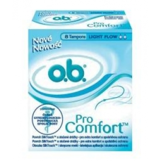 TAMPONY OB - PRO COMFORT LIGHT FLOW *8 SZT